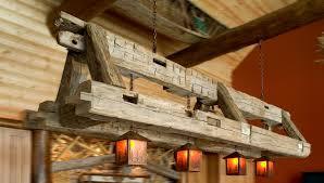 inspirational image for rustic cabin lighting