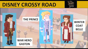 disney crossy road winter coat belle war hero gaston the prince