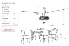 Size Of Chandelier For Dining Room How To Light A Dining Room Lightology
