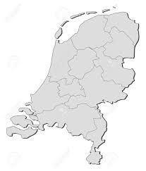 Map Of The Netherlands Political Map Of Netherlands With The Several States Royalty Free