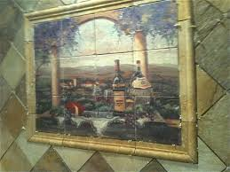 appealing tile murals kitchen backsplash featuring wine picture