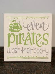 Kids Pirate Bathroom - pirate and mermaid bathroom pirate decor by jessieanncreations