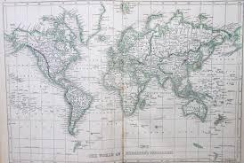 Mercator World Map by Map Of The World U2013 Mercator 1853