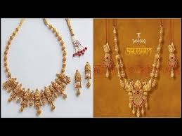 gold necklaces designs collection by tanishq jewellery