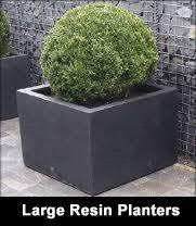 large resin garden trough planters