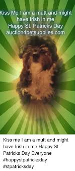 Kiss Me Dog Meme - kiss me l am a mutt and might have irish in me happy st patricks day