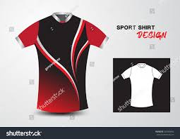 red black sport shirt design vector stock vector 392560942