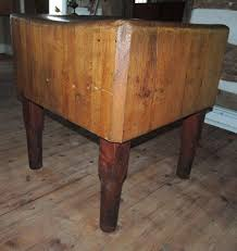 antique primitive maple butcher block table from roll over large image to magnify click large image to zoom