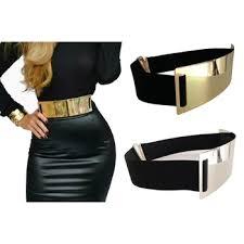 designer g rtel damen shop 4 5 cm breite elastische schwarz gürtel frauen gold