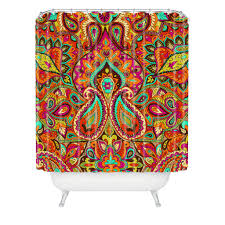 aimee st hill paisley orange shower curtain deny designs home