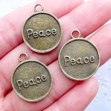 inspirational charms peace tag charms peace pendant inspirational charms