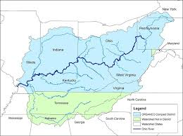 ohio on the map of usa pages ohio river scenic united states rivers and lakes map