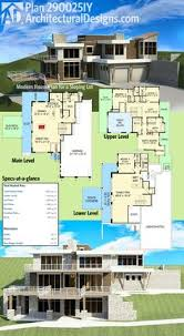 Architecture Design Floor Plans Plan 430006ly 4 Bed Modern House Plan With Upstairs In Law Suite