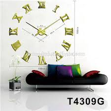 large roman wall clock modern home decor diy 3d acrylic wall clock