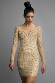 champagne cocktail dress with sleeves naf dresses
