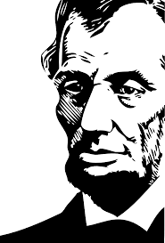 lincoln coloring pages abraham lincoln black white line art coloring book colouring