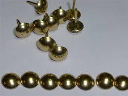 Upholstery Pins 100 X Brass Gold U2013 Decorative Upholstery Nails Studs Tacks