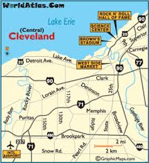 map of cleveland cleveland ohio map cleveland attractions rock and roll of