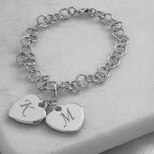 double heart charm bracelet images Personalized double heart charm bracelet pinterest heart charm jpg