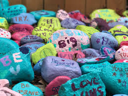 Colored Rocks For Garden Locals Plant Glen Rock Kindness Garden Ridgewood Nj Patch