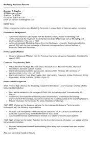 Marketing Assistant Job Description For Resume by Marketing Assistant Resume Example Essaymafia Com