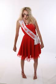zombie prom queen sash cheap halloween fancy dress costume