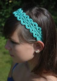 crochet hair band hairpin lace headband pattern free