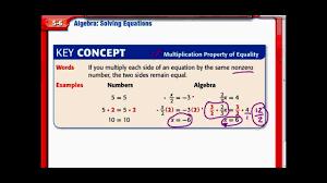 algebra solving equations chapter 5 lesson 6 7th grade math