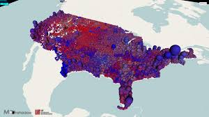 Political Map Us 3d Map Of U S Voters By Party Registration Bubbles Moonshadow