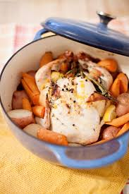 simple apple and herb dutch oven roasted chicken makes healthy