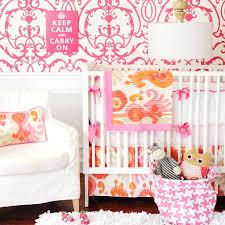 grey and orange nursery bedding design ideas