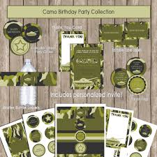 camo birthday party invitations free printable invitation design