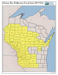 Map Of Counties In Wisconsin by New Program To Improve Honey Bee Health In Wisconsin And Midwest