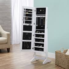 cheval jewelry armoire innerspace cheval free standing jewelry armoire multiple colors