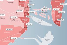 the most u0026 least expensive neighborhoods to rent in miami curbed