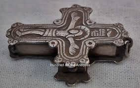 pectoral crosses for sale sold antique post byzantine silver orthodox pectoral reliquary