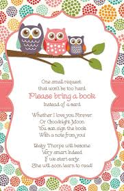 bring a book instead of a card baby shower baby shower giving a book instead of a card baby shower