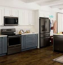 what color cabinets match black stainless steel appliances beautiful black stainless steel kitchen ideas 7