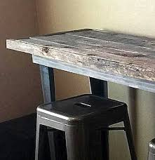 wood table with metal legs reclaimed wood table with custom angle iron legs