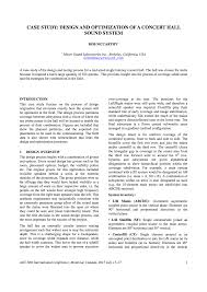 aes e library case study design and optimization of a concert