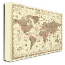 nursery kids canvas framed canvas print world map kids children learning cute wall art