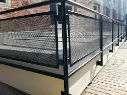Patio Handrails by Exterior Metal Stair Railings More 2017 Also Front Balcony Steel