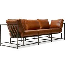 Brown Leather Sofas Encounter Leather Sofa Brown Leather U0026 Antique Brass Stephen