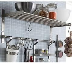 stainless steel kitchen cabinets ikea ikea grundtal kitchen shelf rail and hooks set stainless steel stainless steel 1