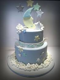 baby bump baby shower cake in blue and white baby shower