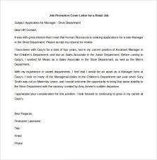 promotion cover letter sample 2 restaurant example