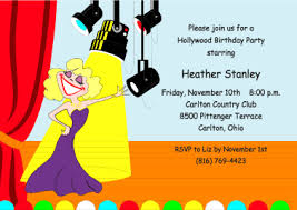 theme invitations theme party invitations with a broadway
