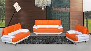 White Sofa Sets Leather Fabulous Orange Leather Sofa Set Modern Orange Leather Sofa