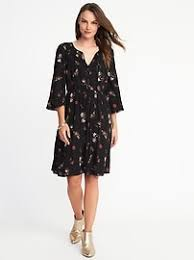 cinched waist bell sleeve dress for women old navy