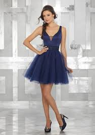 dress to party v neck satin party dress with tulle skirt and beaded embroidered